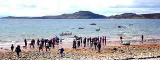 Families enjoying themselves in Coigach