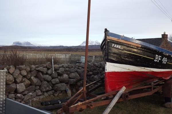 Ali Beag's boat in Coigach