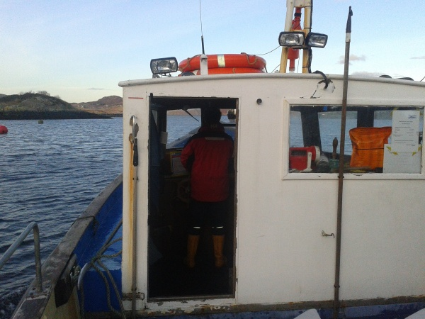 Richard on boat