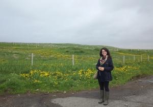Kati in wellies