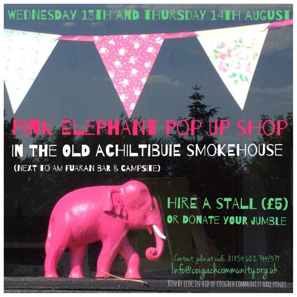 Pink Elephant Pop Up Achiltibuie