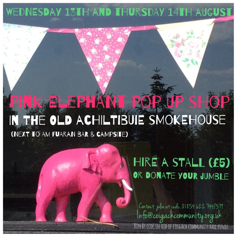 Pink Elephant Pop Up Achiltibuie
