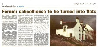 Article in West Highland Free Press 2 Jan 2015
