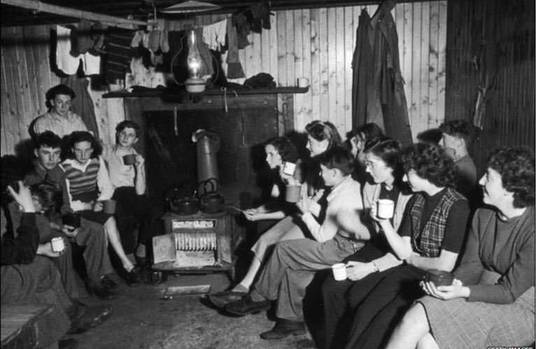 Happy Hostellers in 1946